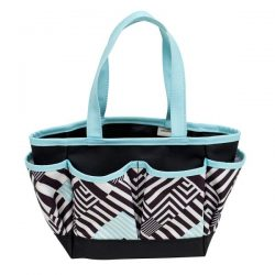 Everything Mary-Crafters Tote-Black/White/Mint