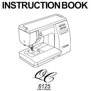 Instruction Manual: Janome Quilter's Companion 6125QC