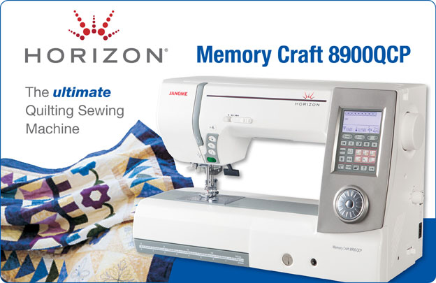 Janome MC 8900 Quilting Banner