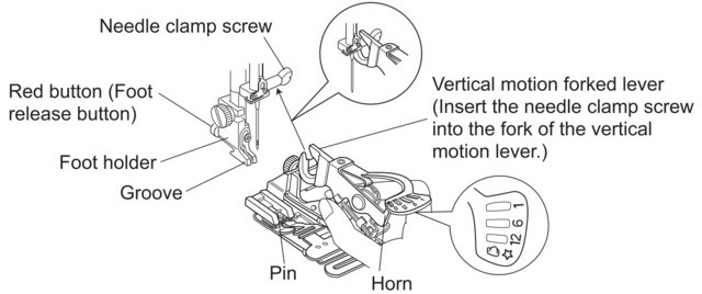 How to Attach the Janome Ruffler Foot