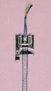 Janome 9mm Cording Foot with knotted cord