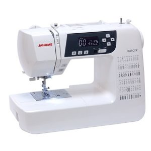 Janome 3160QDC - Computerised Sewing Machine. Featuring 60 stitches, several one-step buttonholes, an extension table and a hard cover; the Janome 3160QDC is perfect value for money