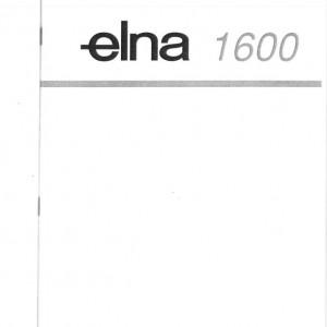 Instruction Manual: Elna 1500/1600 (Digital Copy)