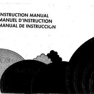 Instruction Manual: Elna 3003/3005/3007 (Digital Copy)