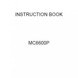 Instruction Manual: Janome Memory Craft 6600P (Digital Copy)