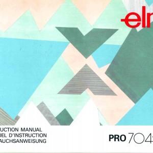 Instruction Manual: Elna 704 (Digital Copy)
