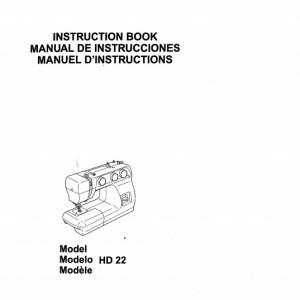 Instruction Manual: Elna HD22 (Digital Copy)