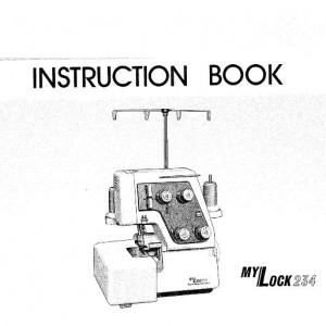 Instruction Manual: Janome 234 Overlocker (Digital Copy)