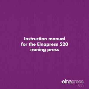 Instruction Manual: Elna Press 520 (Digital Copy)