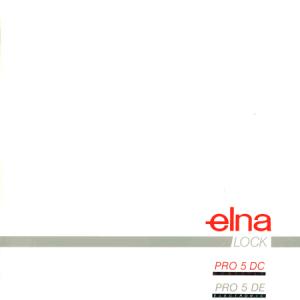 Instruction Manual: Elna PRO 5DC/PRO DE (Digital Copy)