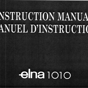Instruction Manual: Elna 1010 (Digital Copy)