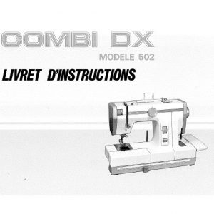 Livret d'instructions Janome Combi dx ()