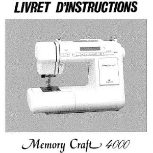 Livret d'instructions Janome MC4000 ()