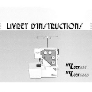 Livret d'instructions Janome My Lock 534 & 534D ()