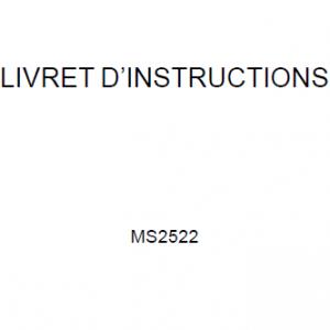Manuel d'instructions Janome 2522