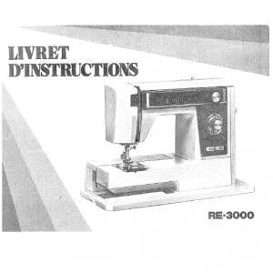 livret d'instructions - Janome RE3000