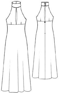 sewing a halter dress
