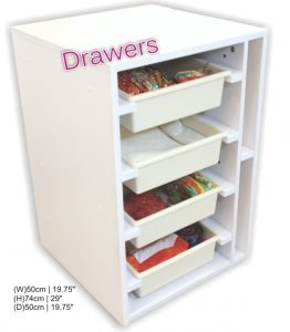 Tailormade Elements Sewing Cabinet Drawers Quilt Storage