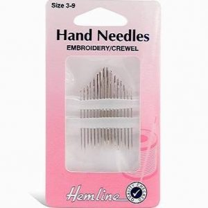 Hemline Hand Needles embroidery Crewel 3 to 9-min ()