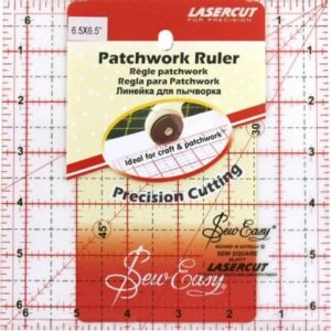 NL4177-Square Patchwork Ruler 6.5x6.5inch
