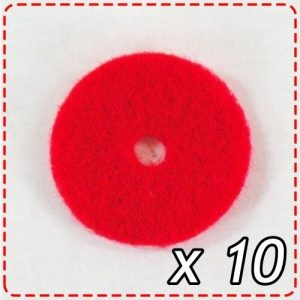 Red Felt Disk for Sewing Machine Spool