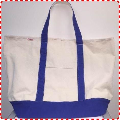 Janome Canvas Tote Bag Blue