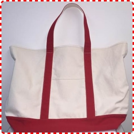 Janome Canvas Tote Bag Red