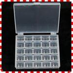 25 Count Clear Plastic Bobbin Case