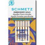 Schmetz Embroidery Gold Titanium Needles 90 14 ()