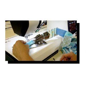 Quilt Binder Set on Machine