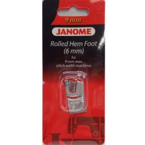 Janome 6mm Rolled Hem Foot for 9mm Sewing Machine Models