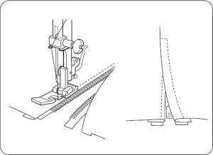 Janome Zipper Foot 5mm How to put a zipper in-min