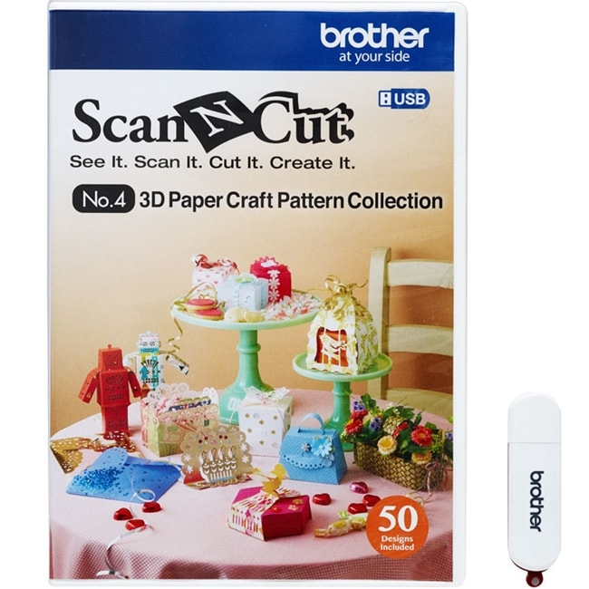 Brother ScanNCut No 4 3D Paper Craft Pattern Collection (CAUSB4)