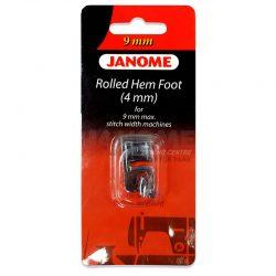 Janome rolled Hem Foot (4mm) for 9mm Models