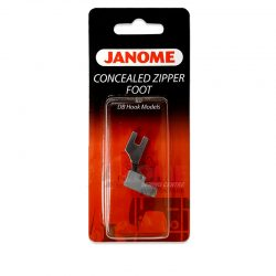 Janome Concealed Zipper Foot (for DB Hook Models)