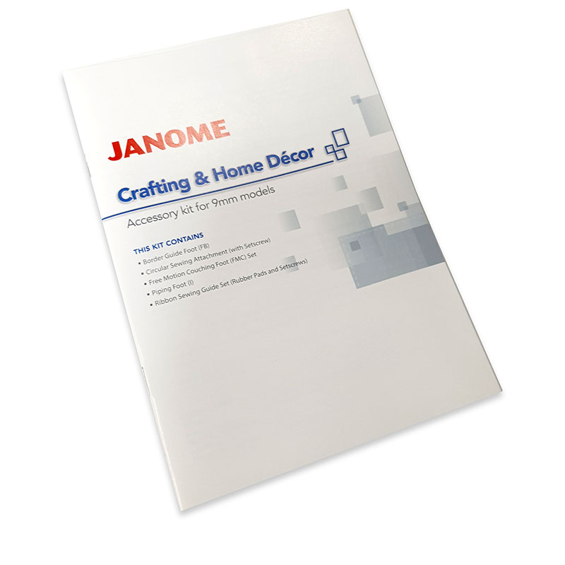 Janome Crafting & Home Décor Accessory Kit Instruction Guide