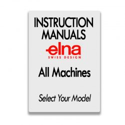 Elna Sewing Machine Instruction Manuals