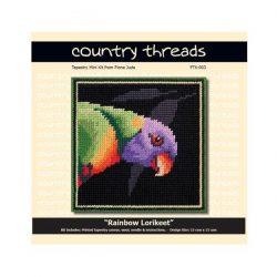 Country Threads Tapestry Kit- Rainbow Lorikeet