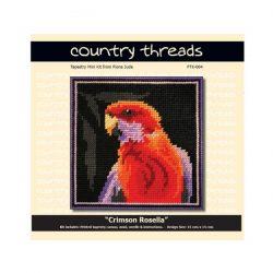 Country Threads Tapestry Kit- Crimson Rosella