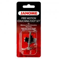 Janome Free Motion Couching Foot Set (High Shank)