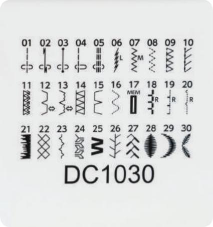 Janome DC1030 stitches