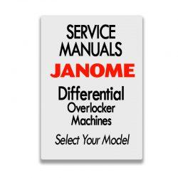 Janoem Service Manuals for Overlockers