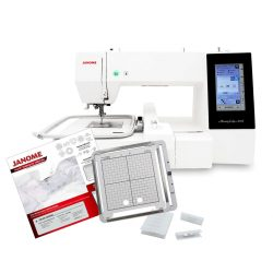 Janome MC500E with the AcuFil Quilting Kit