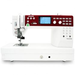 Front View of the Janome MC6650 Flatbed Quilting Machine