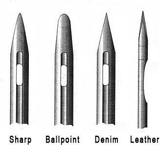 Structure of the Sewing Needles