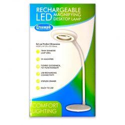 Triumph Rechargeable LED Magnifying Desktop Lamp