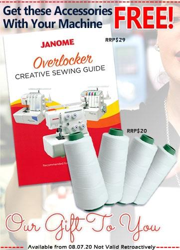 Our exclusive Janome Overlocker Bonus