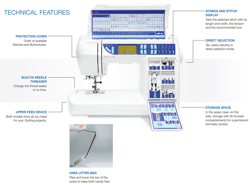 Technical Features of the Elna Q6600