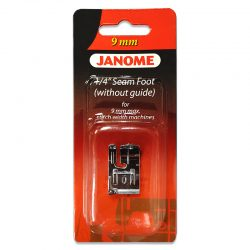 Janome Quarter Inch Seam Foot Without Guide